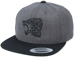 Viking Wolf Charcoal Grey/Black Snapback - Vikings