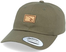 Bent Rod Patch Dad Cap Olive Adjustable - Hunter