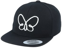 Kids 3D Butterfly Black Snapback - Kiddo Cap