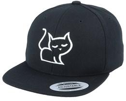 Kids 3D Kitten Black Snapback - Kiddo Cap
