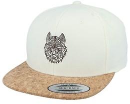 Stylistic Wolf Natural/Cork Snapback - Iconic