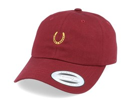 Lucky Horse Shoe Maroon Dad Cap - Iconic