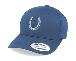 Lucky Horse Shoe Curved Navy Blue Adjustable - Iconic