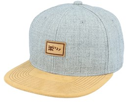 Small Hatsie The Red Panda Patch Grey/Suede Snapback - Wild Spirit