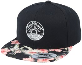 Ocean Sunset Black/Floral Snapback - Iconic