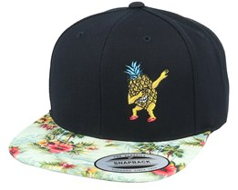 Dabbing Pineapple Black/Floral Mint Snapback - Iconic