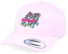 Retro Roller Skates Curved Pink Adjustable - Iconic