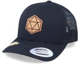 Organic D20 Patch Black Trucker - Gamerz