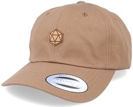 D20 Patch Brown Dad Cap - Gamerz