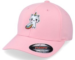 Kids Silver Applique Unicorn Pink Flexfit - Unicorns