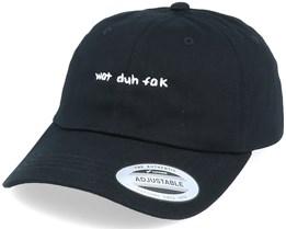 Hatstore x Kevin Bang - Wat Duh Fak Black Dad Cap