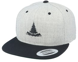 Pinetree Heather Grey/Black Snapback - Wild Spirit