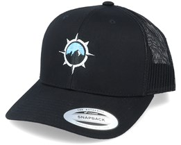 Mountain Windrose Black Trucker - Wild Spirit