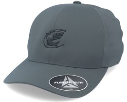 Oval Fishing Logo  Delta Fit Char Flexfit - Hunter