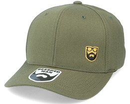 Gold Badge Logo Side Panel Olive 110 Adjustable - Bearded Man