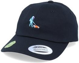 Organic Tiny Astronaut Gardener Black Dad Cap - Iconic