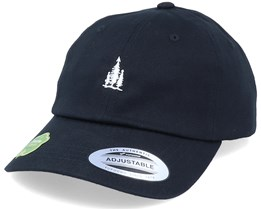 Organic Tiny Pine Trees Black Dad Cap - Wild Spirit