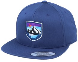 Organic Starry Mountain Badge Navy Snapback - Wild Spirit