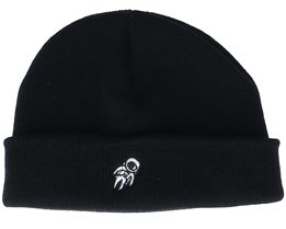 Tiny Astronaut Black Short Beanie - Iconic