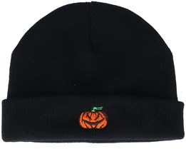 Tiny Pumpkin Black Short Beanie - Iconic