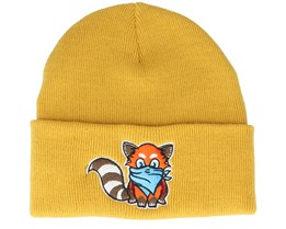 Kids Hatsie The Red Panda Mustard Cuff - Kiddo Cap