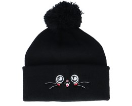 Kids Happy Eyes Black Pom - Kiddo Cap