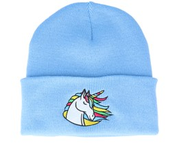 Kids Rainbow Unicorn Sky Blue Cuff - Unicorns