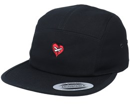 Broken Mended Heart Black 5-Panel - Iconic