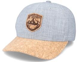 Starry Mountain Patch Grey/Cork Adjustable - Wild Spirit