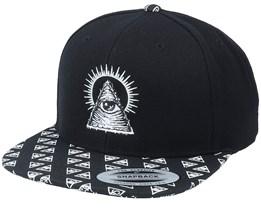 Shining Illuminati Black/Paisley Snapback - Iconic