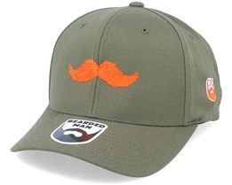Orange Moustache Movember Olive 110 Adjustable - Bearded Man