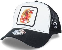Red Dragon D20 Patch White/Black Trucker - Critiql Hit
