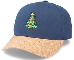 Christmas Tree Navy/Cork Adjustable - Iconic
