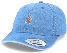 Christmas Gingerbread Cookie Blue Denim Dad Cap - Iconic