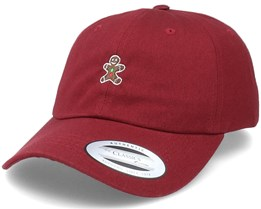 Christmas Gingerbread Cookie Maroon Dad Cap - Iconic