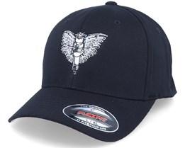 Spark Plug Angel Emblem Black Flexfit - Born To Ride