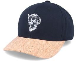 Bandana Skull Black/Cork Adjustable - Born To Ride