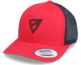 Logo 3D Classic 2-Tone Red/Black Trucker - Padelville