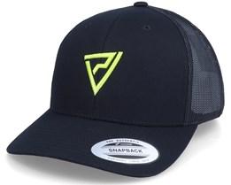 Neon Logo 3D Black Trucker - Padelville