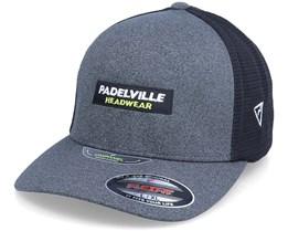 Logo Box Unipanel Mesh Dark Grey/Black Flexfit - Padelville