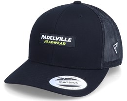 Logo Box Classic 2-Tone Black Trucker - Padelville
