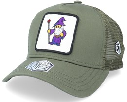 Purple Wizard Patch Olive Trucker - Critiql Hit