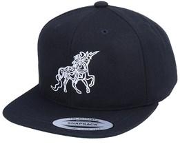 Kids Unicorn Zentangle Black Snapback - Unicorns