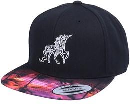 Unicorn Zentacle Curved Black/Sunset Snapback - Unicorns