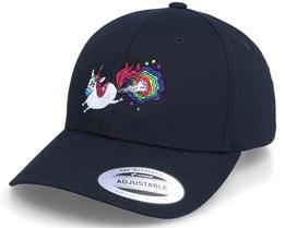 Rainbow Farting Unicorn Curved Black Adjustable - Unicorns