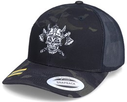Undead Viking Multicam Black Camo Trucker - Vikings