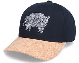 Pig Mandala Black/Cork Adjustable - Iconic