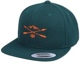 Nature Arrow Cross Spruce Green Snapback - Wild Spirit