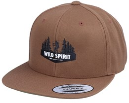 Forest Walker Logo Tan Snapback - Wild Spirit