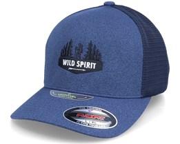 Forest Walker Logo Mesh Melange Navy Flexfit - Wild Spirit